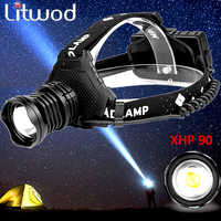 Z15 2064 XHP90 Led headlamp Headlight the most powerful 32W 8000lm head lamp zoom power bank 7800mAh 18650 battery