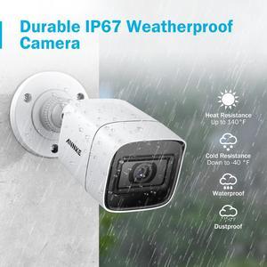 Image 5 - ANNKE Kit de caméra de sécurité Ultra HD 8CH 4K, caméra h265, système de sécurité 8MP, Vision nocturne extérieure, infrarouge, Kits de vidéosurveillance