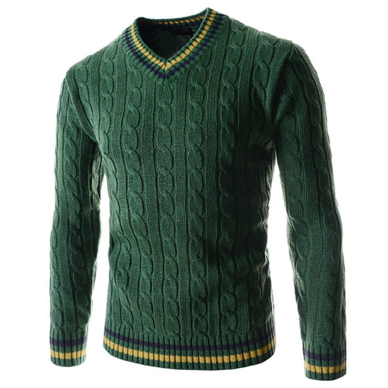 도매 브랜드 스웨터 코트 캐주얼 패션 스웨터 코트 슬림 맞는 남자 스웨터 니트 양모 풀오버 스웨터 망 A394