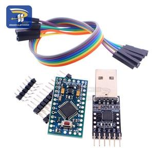 Image 5 - 1PCS 6pin CP2102 USB 2.0 כדי TTL UART מודול + 1PCS פרו מיני מודול Atmega328 5V 16M לarduino תואם עם ננו