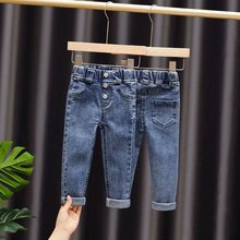 Girls Jeans Kids Autumn Spring Clothes Trousers Children Denim Pants for Baby Girl Jeans button toddlers 80~140 winter