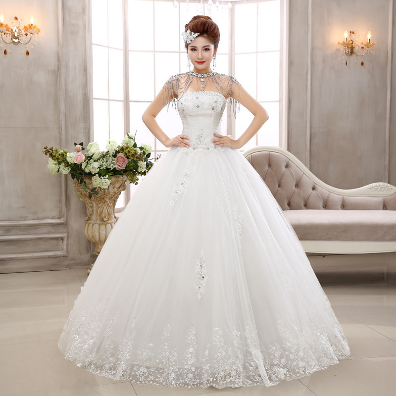 Vestido De Noiva Gown With Neat, The New Summer 2020 Cultivate Morality Show Thin Flower Sweet Princess Bride Wedding Dresses