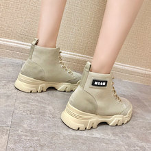 LZJ Genuine Leather + Canvas Women Military Boots Special Force Desert Combat Women's Ankle Boots Flat Army Woman Work Shoes(China)