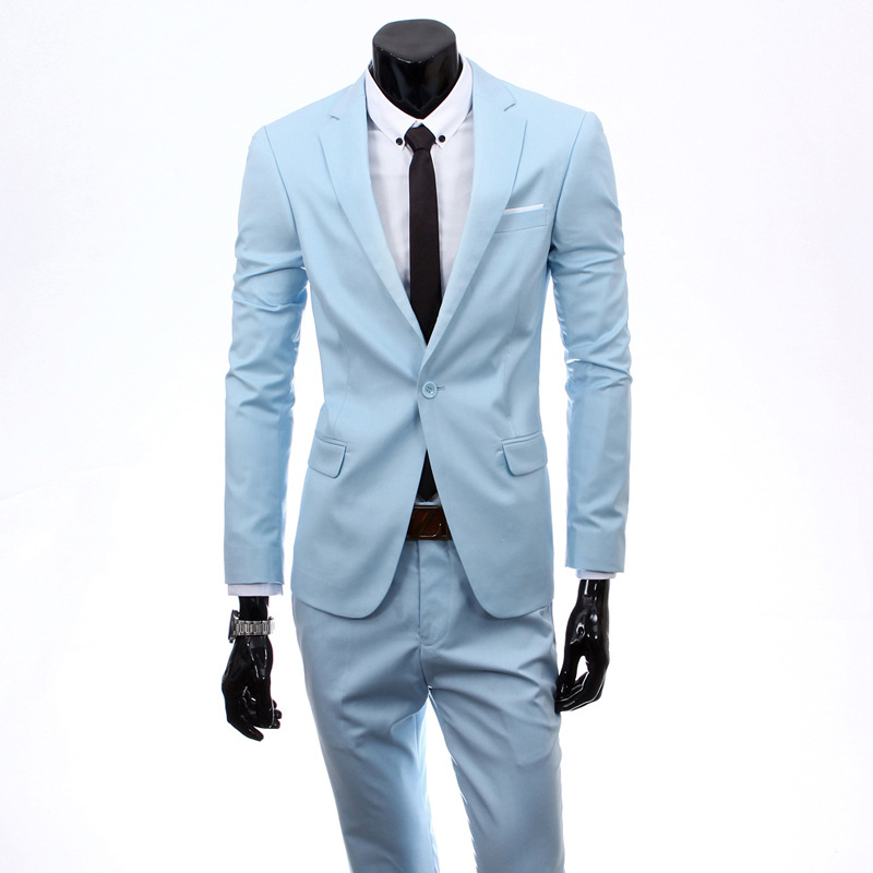 MEN'S Suit Set Slim Fit Three-piece Set Business Formal Wear Groom Marriage Formal Dress Casual Korean-style Small Suit Clothing