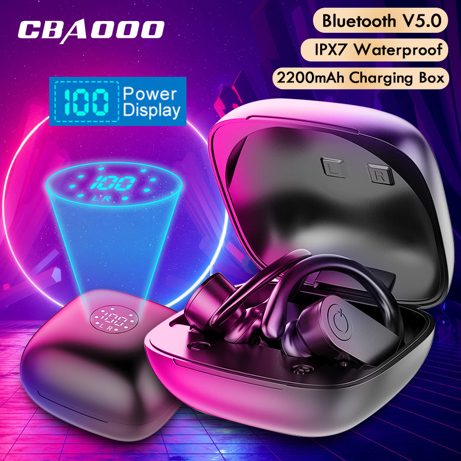 CBAOOO B11 Led Display Bluetooth Earphones 5.0V Wireless Headphones TWS Stereo Earbuds Handsfree Sport Headset For Phone Apple