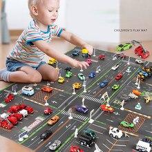 Tapete de estrada de tráfego plástico fino para crianças playmat crianças tapete de estacionamento simulado mapa de brinquedo do jogo do bebê pouco menino menina esteiras brinquedos