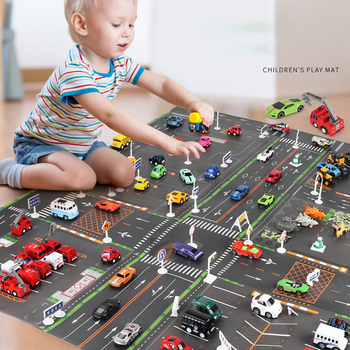 Traffic Road Carpet for Kids Playmat Children's Rug Simulated Parking Map Toy Baby Play Mat Little Boys and Girls Mats Toys