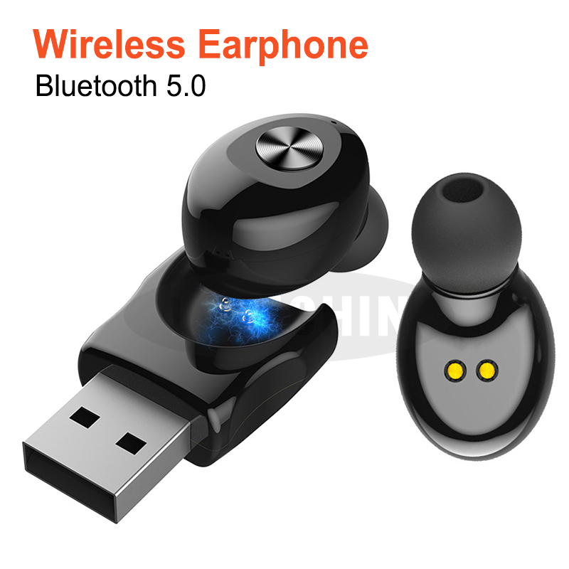 USB Sport Headset  Bluetooth 5.0  TWS Bluetooth Wireless Earphone Stereo Earbud Earphones With Mic Handsfree For IPhone