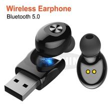 USB Sport Headset Bluetooth 5.0 TWS Bluetooth Wireless Earphone Stereo Earbud Ea