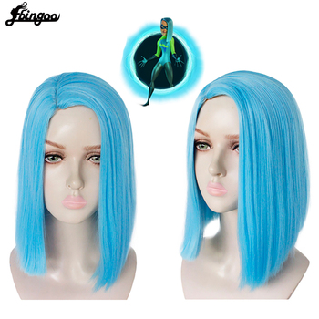 Ebingoo Voyd Incredibles 2 Wig Blue Short Straight Synthetic Cosplay Wig Side Part Halloween Costume Party Wigs for Women цена 2017