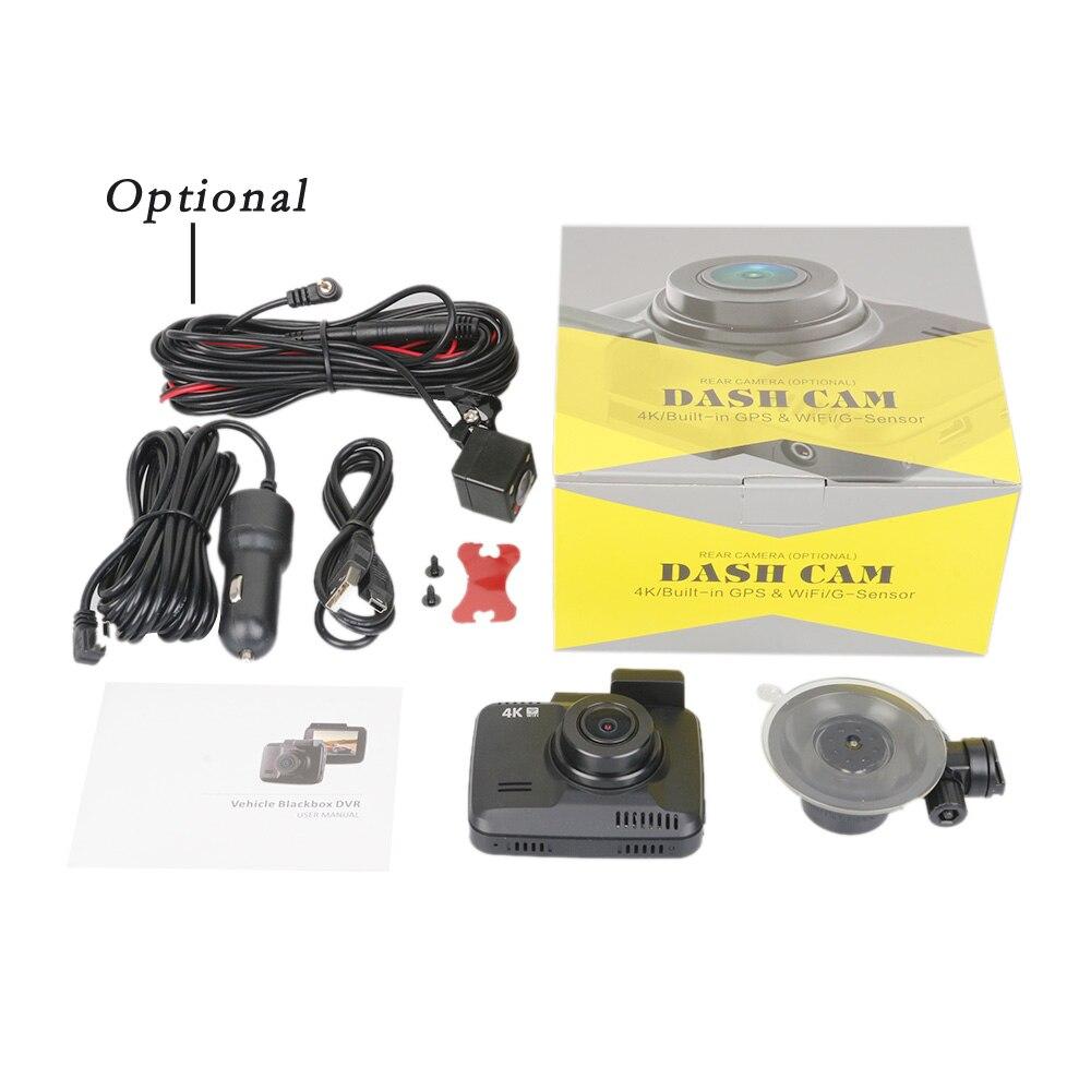 GS63H 4K grabadora de vídeo del coche GPS coche DVR Cámara Wifi Full cámara HD Dash coche Video vigilancia HDMI Auto cámara HD Cámara espejo - 6