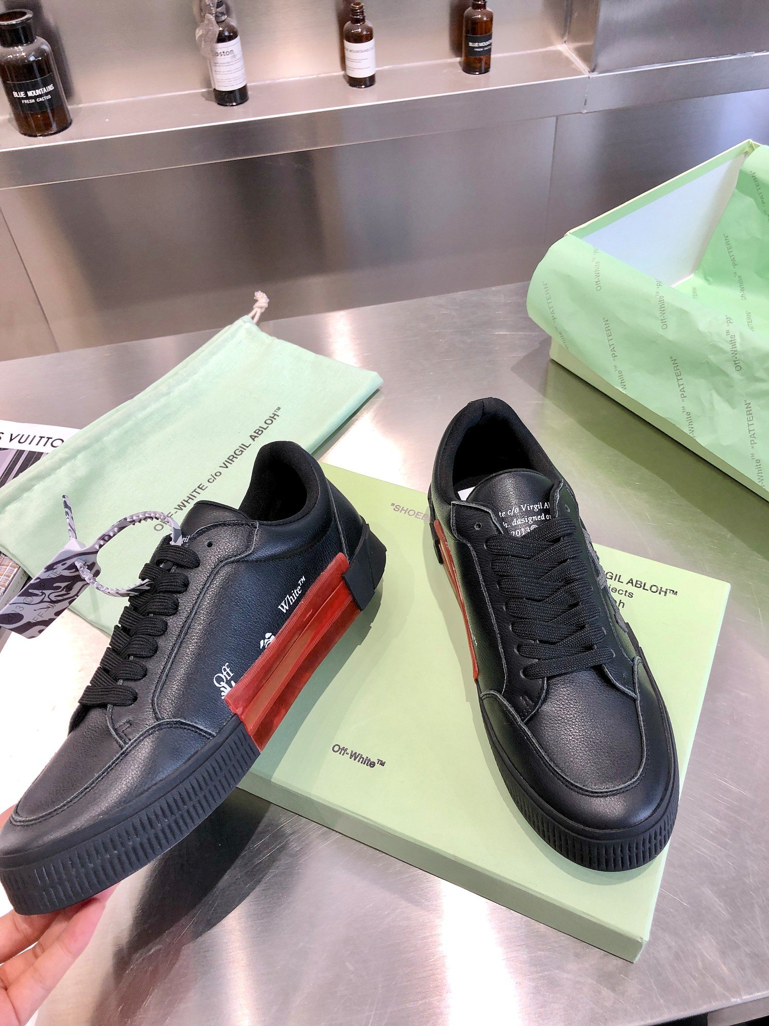 2021 Autumn New Genuine Leather Black Sneakers Men Women Arrow Skater Shoes Brand Off White Leisure Shoes Woman Zapatos Hombre