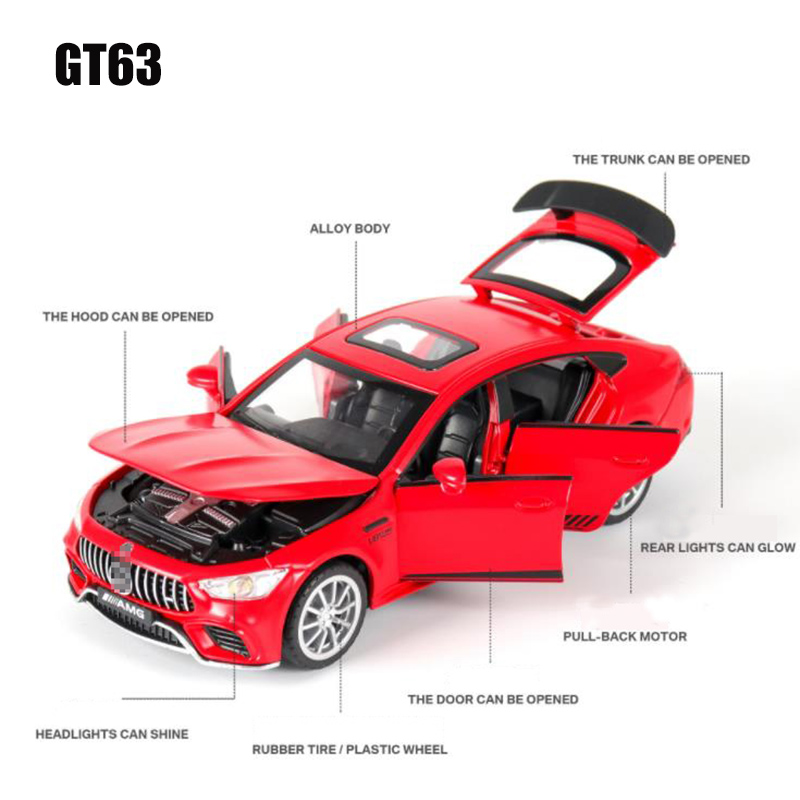 1:32 GT63 AMG SPORT Alloy Car Model Diecasts & Toy Vehicles Toy Cars Educational Simulation Toys For Children Gifts Boy Toy 3