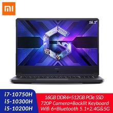 Xiaomi – Mi Redmi PC portable Gaming, 16.1 pouces, processeur Intel Core i7 i5 GTX1650 TI, 16 go DDR4, SSD de 512 go, caméra rétroéclairée, 100% sRGB