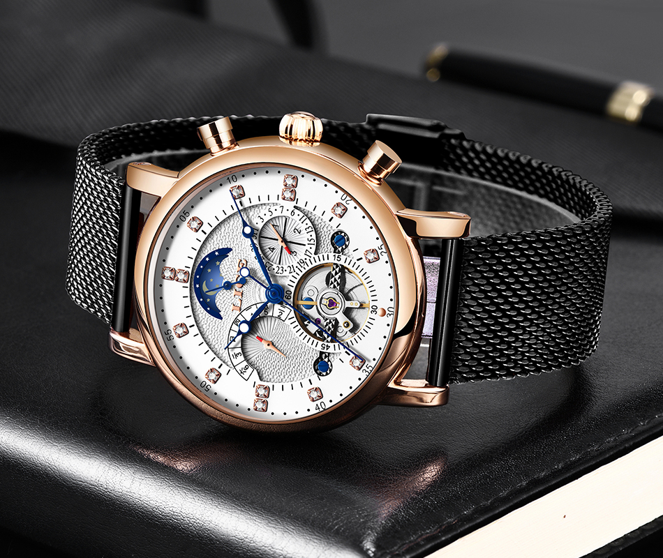 Hb3207bea837940e2855119e3af39f65bt LIGE Gift Mens Watches Brand Luxury Fashion Tourbillon Automatic Mechanical Watch Men Stainless Steel watch Relogio Masculino