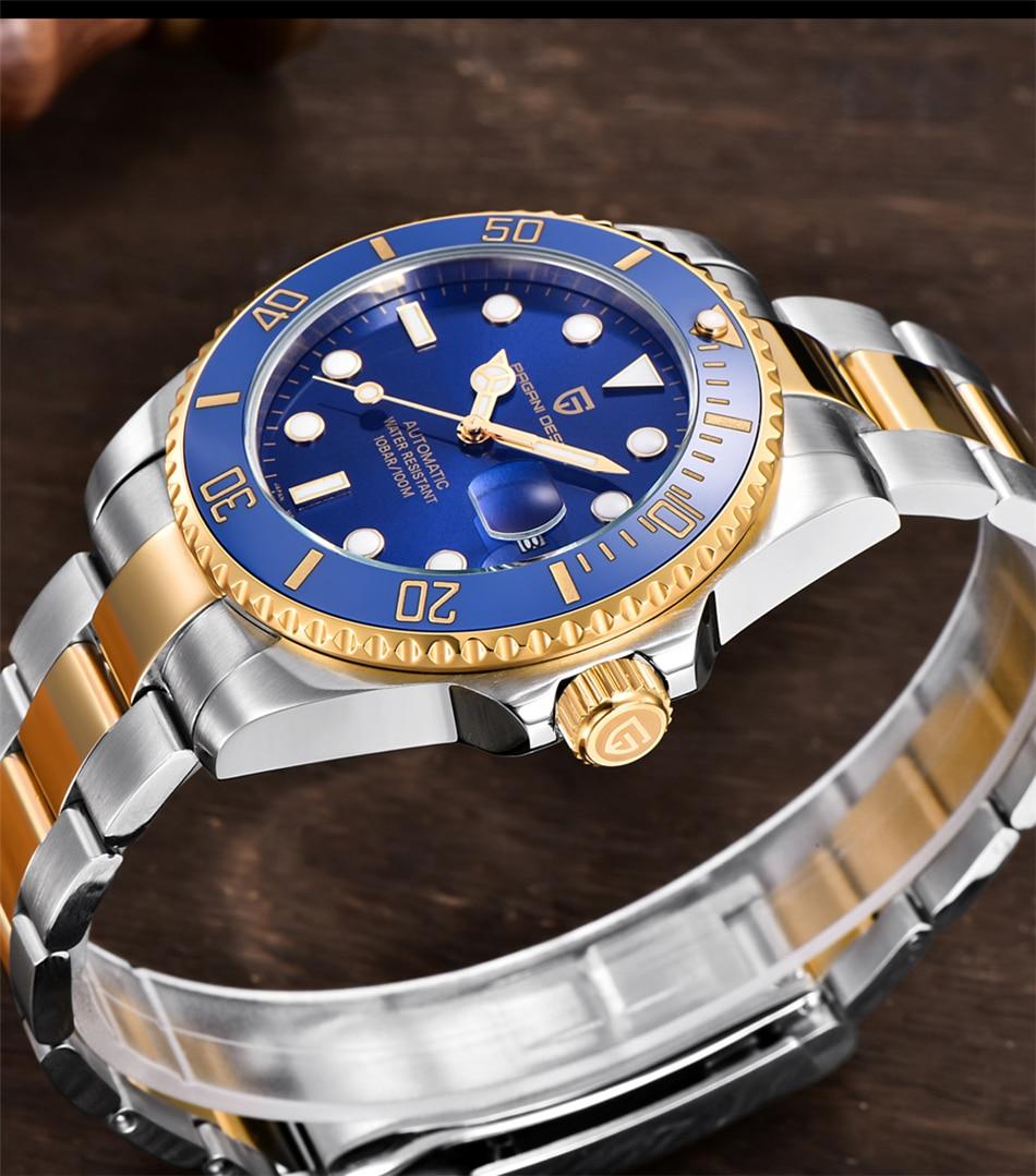 Hb3207ebd8ee84175a761e7de47752e5c9 PAGANI2019 Design Brand Luxury Men Watches Automatic Black Watch Men Stainless Steel Waterproof Business Sport Mechanical