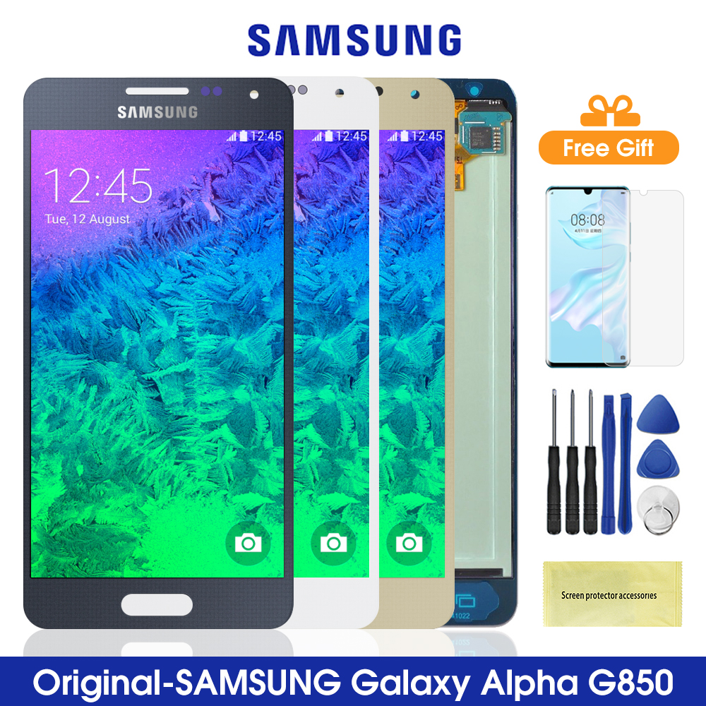 Original G850 <font><b>LCD</b></font> For <font><b>Samsung</b></font> Galaxy Alpha G850 <font><b>LCD</b></font> <font><b>Display</b></font> <font><b>Touch</b></font> <font><b>Screen</b></font> <font><b>Digitizer</b></font> Assembly For Smasung G850 G850F G850M G850Y image