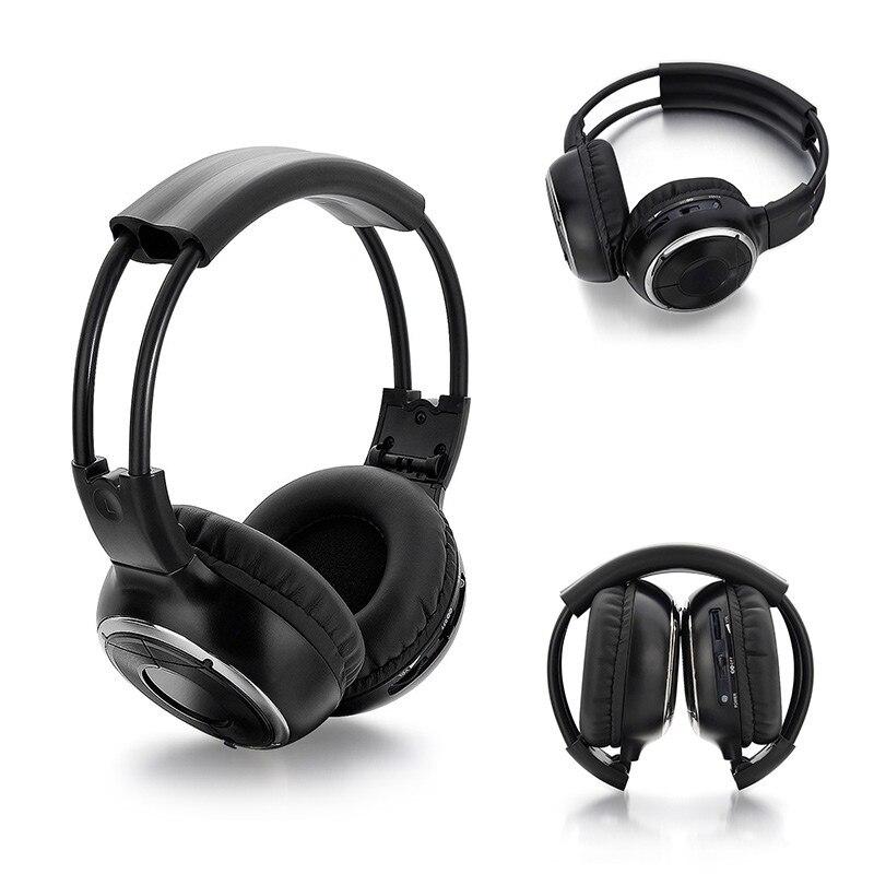 IR Infrared Headphone DVD Wireless Stereo Car Game Headphones Headset Dual Channel Earphones New