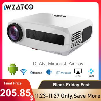 WZATCO C3 nowy projektor LED Android 10 0 WIFI Full HD 1080P 300 calowy duży ekran Proyector 3D kino domowe inteligentne wideo Beamer tanie i dobre opinie Instrukcja Korekta CN (pochodzenie) Projektor cyfrowy 4 3 16 9 200W X 1 5 2550 1920x1080 dpi 7000 Lumenów WZATCO C3 C3 Smart