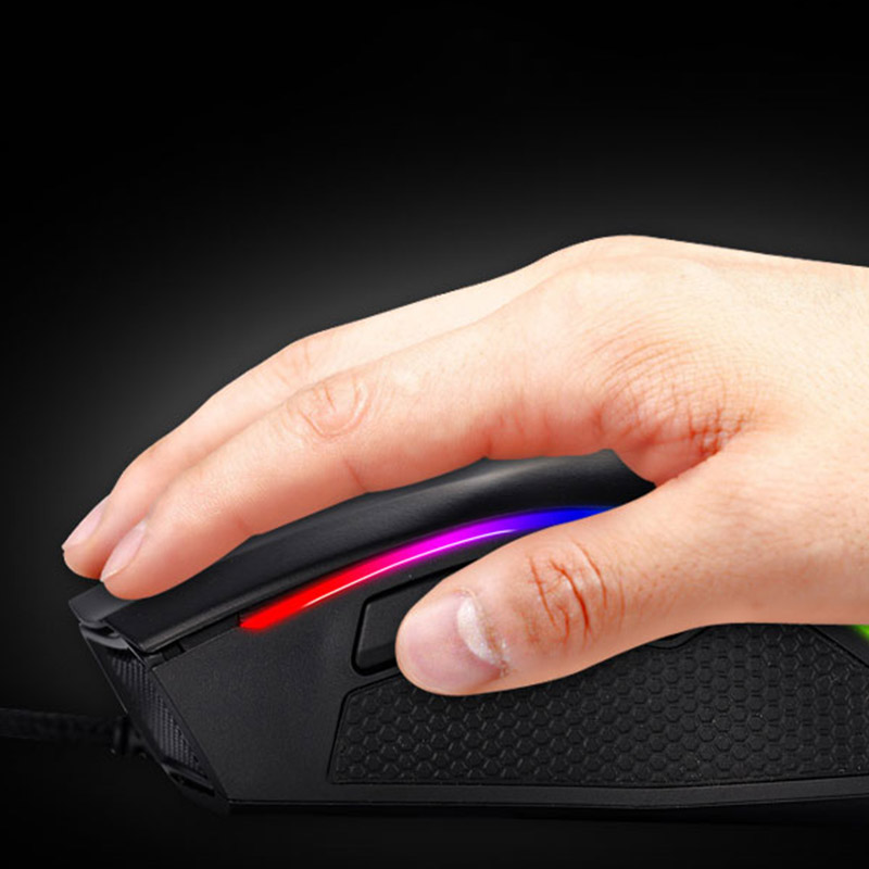 Mechanical Gaming Mouse Mice USB Wired RGB Breathing Light 6 Modes DPI High Sensitivity SP99