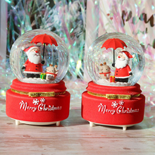 Creative Christmas Snow Globe Crystal Ball Rotating Music Box Christmas Decoration For Home Home Decoration Accssories new christmas decorations creative snow music lantern festival scene decoration props glowing glass ball with snow toy speelgoed