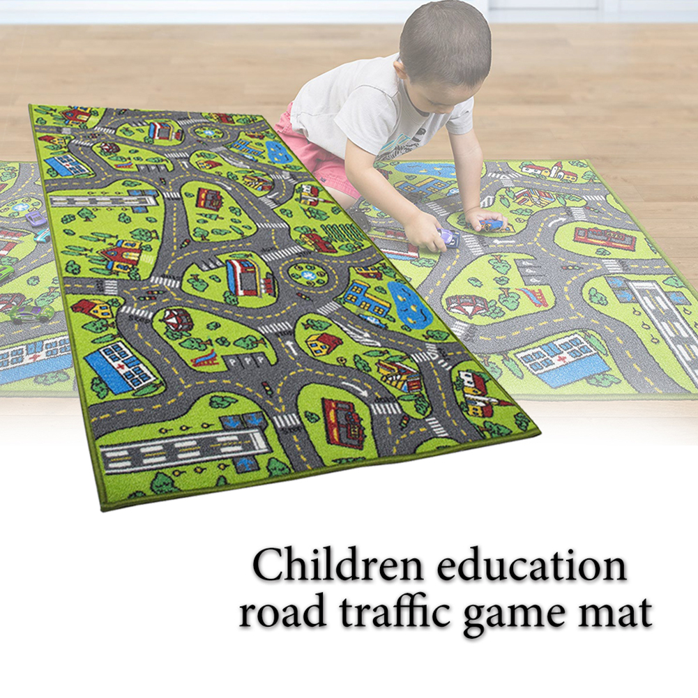 Educational Carpet Area Rug Cartoon Pattern Thick Non Slip Infant Preschool Toys Crawling Waterproof Decoration Baby Play Mat