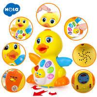 HOLA 808 battement Musical Action canard jaune jouet éducatif d'apprentissage et de marche pour 1 an bébé enfant en bas âge fille garçon cadeau de noël