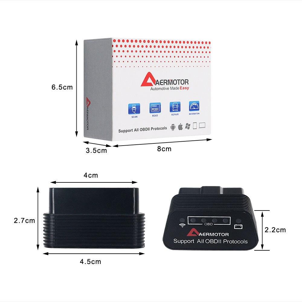 Hb320cf94f57f4ba7af55b5076a92b460f 2019 OBD2 ELM327 1.5 HH OBD Diagnostic Scanner ELM 327 V1.5 WiFi/Bluetooth OBDII Auto Code Reader Support OBD2 OBD 2 Protocols