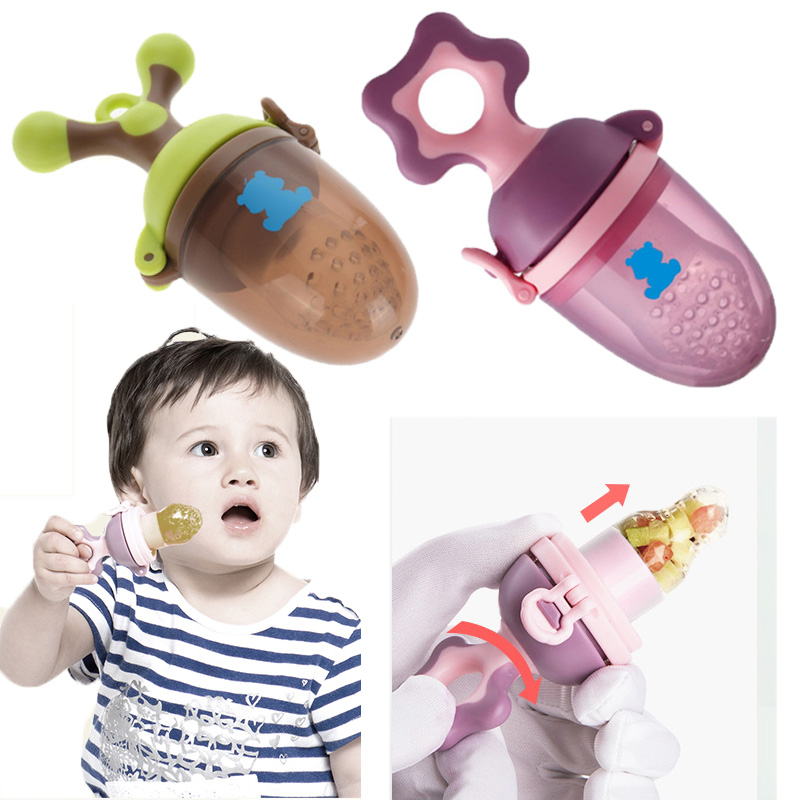 New Baby Pacifiers Extruding Fresh Fruit Baby Food Safe Baby Feeding Pacifier Newborn Food Feeder Kids Fruit Teat Food Accessory