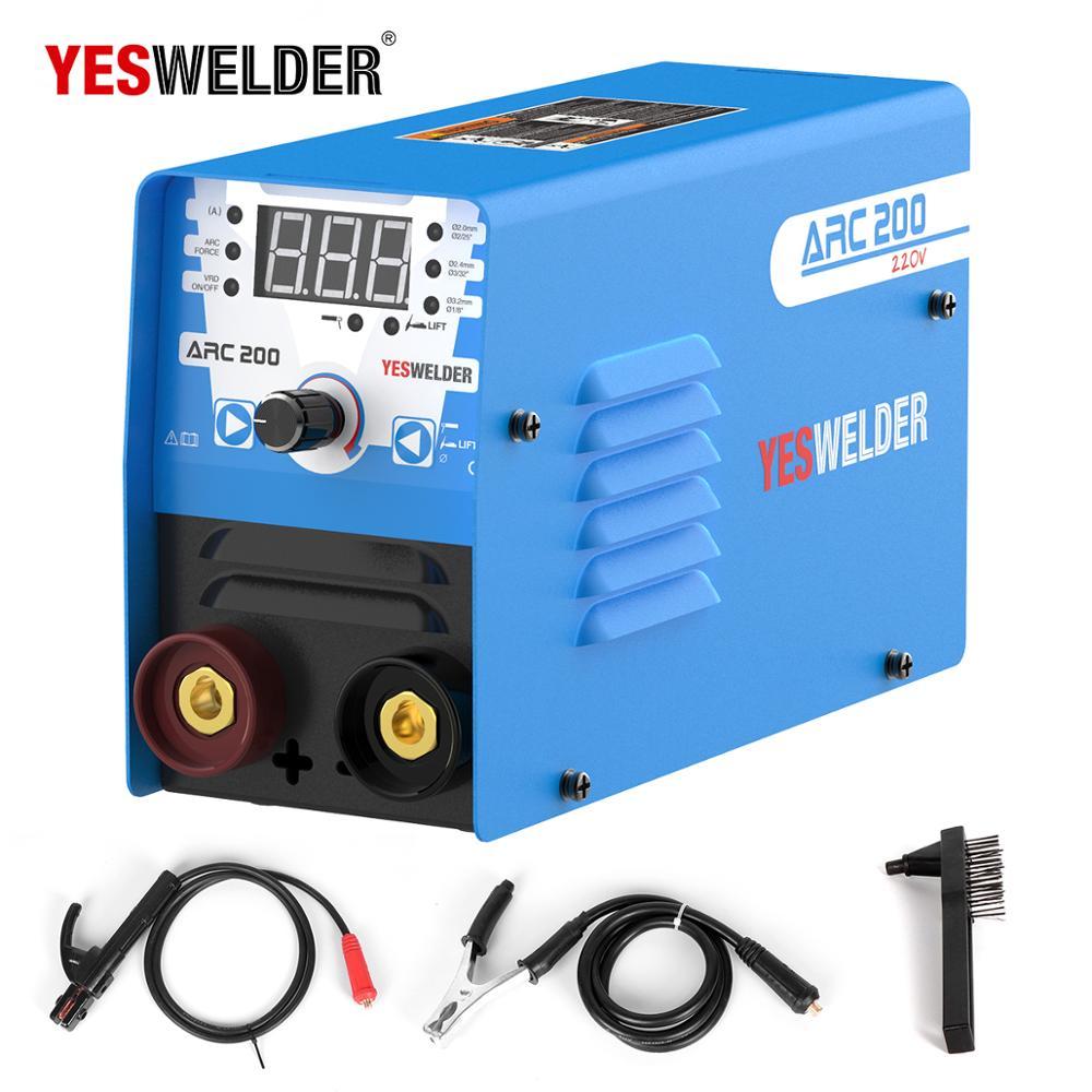 YESWELDER Euro Qualität Mini ARC Schweißen Maschine Einphasig 220V Inverter MMA Tragbare Schweißer