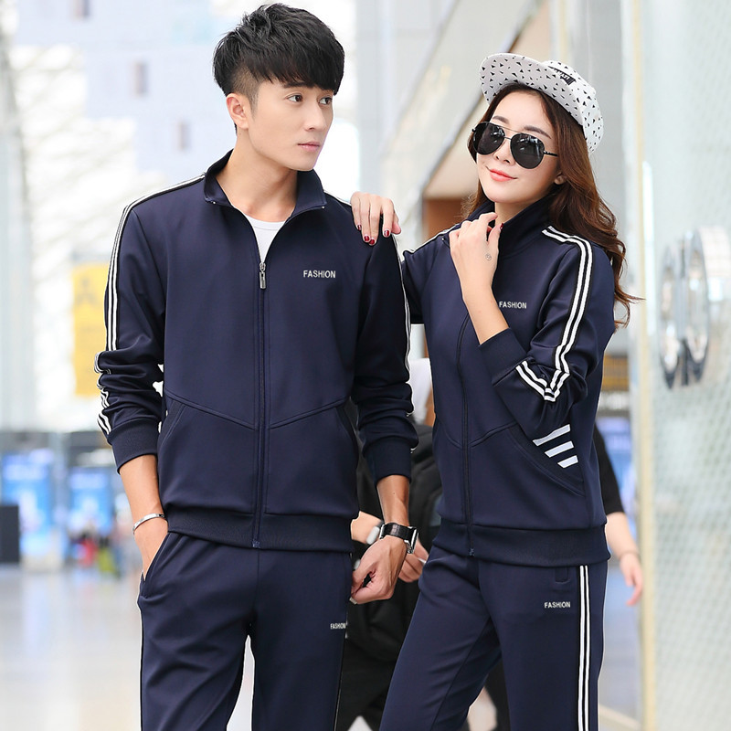 Sports Set Couples New Style School Uniform Processing Customizable Hot Sales Spring And Autumn Boys And Girls Casual Sports Clo