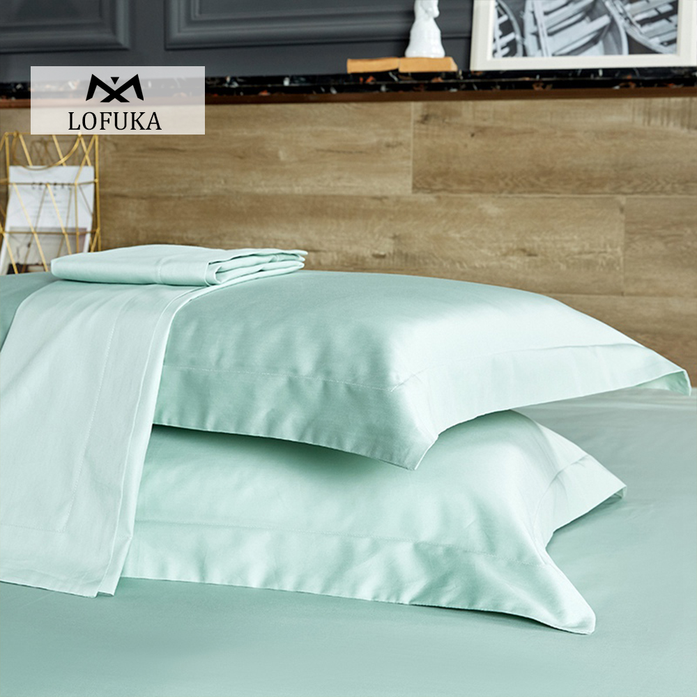 Lofuka 5 Star 100% Cotton Light Green Pillowcase Long-staple Cotton Pillow Case Standard Bedding Pillow cover Free shipping