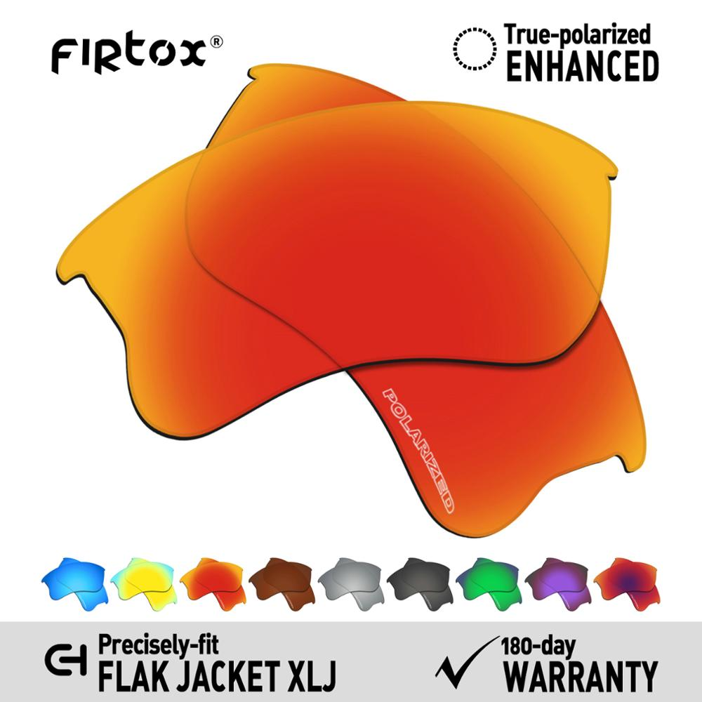 Firtox Anti-Seawater Polarized Lenses Replacement For-Oakley Flak Jacket XLJ Sunglasses (Lens Only) - Multiple Colors