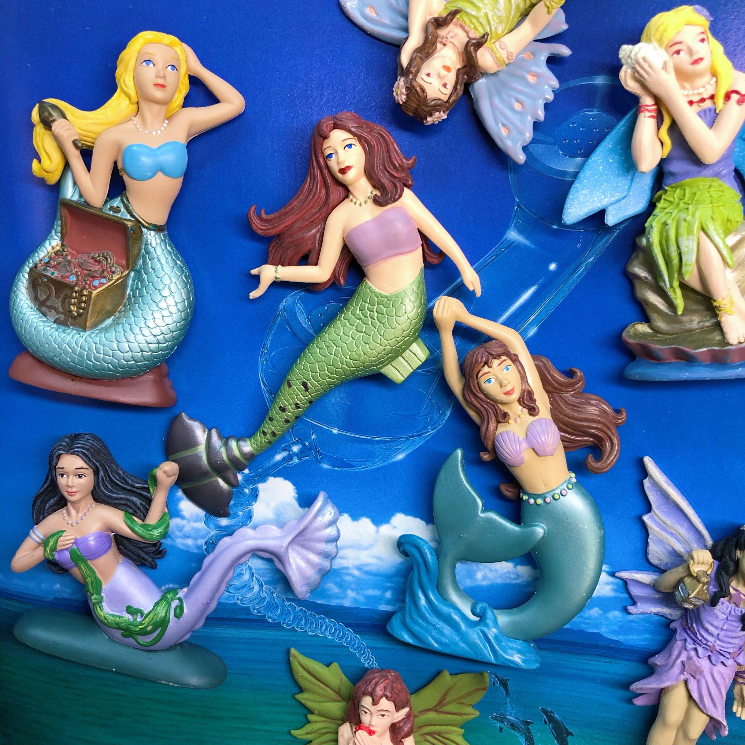 pvc  figure  model  toy   mermaid  fairy  8pcs/set