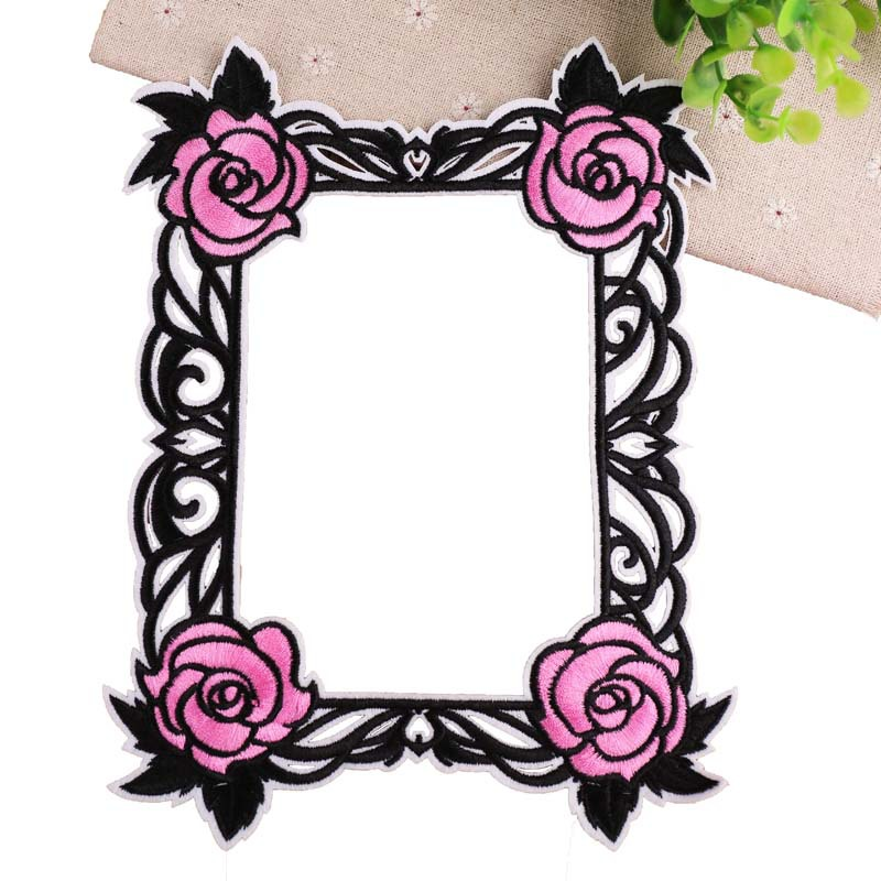 Embroidery Patch Water-soluble Cloth Stickers Garland Photo Frame Patch Sticker Bags DIY Applique Parches On Patch For Clothes