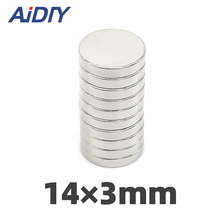 AI DIY 10/30/100 pcs 14 x 3mm Small Round Neodymium Magnets Super Strong Powerful Whiteboard Rare Earth Magnet Disc 14*