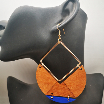 Drop Wooden Big Size Earrings55