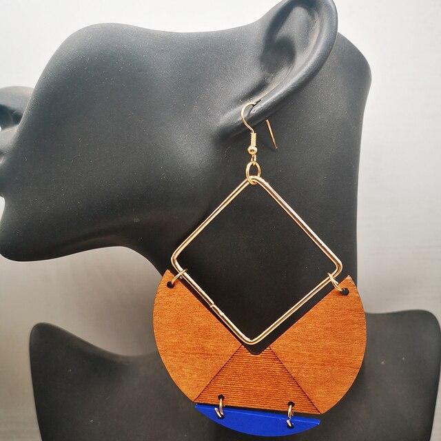 Drop Wooden Big Size Earrings55
