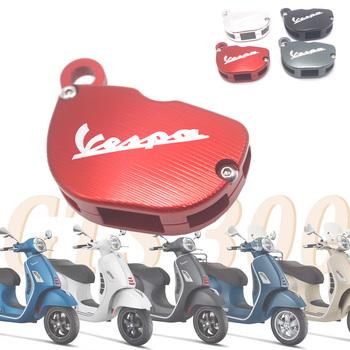 Z kluczem i motocyklem ochraniacz na drążek skrzyni biegów pokrywa dekoracyjna dla Piaggio Vespa Piaggio GTS SPRINT PRIMAVERA 150 300 125 GTS300 GTS125 tanie i dobre opinie OLOMM 1inch CNC Aluminum Uniwersalny Obejmuje listew ozdobnych 0 11kg