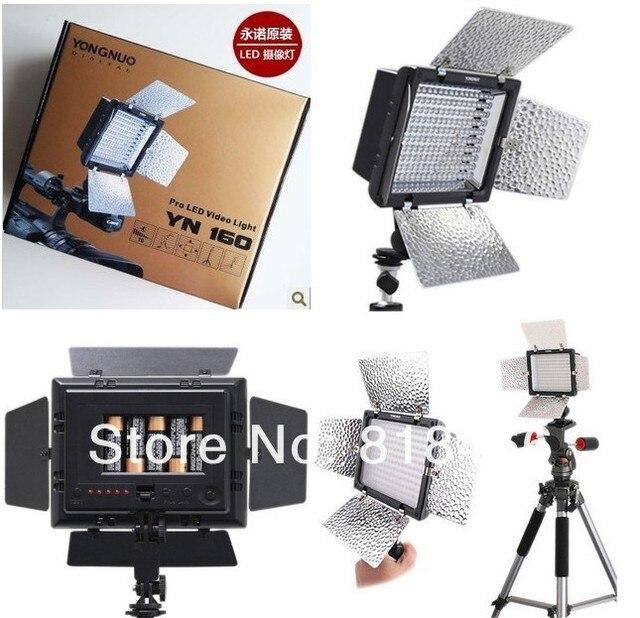 משלוח חינם YN160 YN 160 160LED וידאו אור עם מסננים עבור canon nikon מצלמה/מצלמת וידאו, led אור צילום תאורה