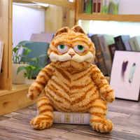 Garfield-gran oferta de juguetes de peluche con ojos grandes para niños, de gran tamaño con ojos grandes muñeco de peluche, diseño de Garfield del gato amarillo, suave, Animal relleno, regalo de cumpleaños y Navidad