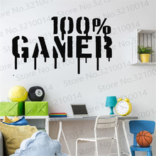 Gamer Wall Decal Video Games Sticker Controller Gaming Room Art Decals PW224