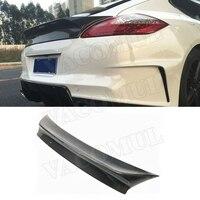 Carbon Fiber Car Rear Trunk Spoiler Wings For Porsche Panamera S 970.1 2009 2013 VRT Style FRP Boot Trim Sticker Car Styling