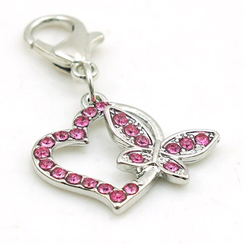 Jinglang amor borboleta charme do vintage colar
