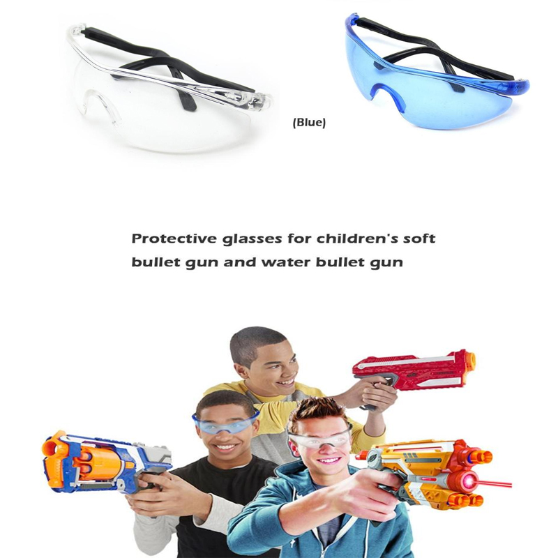 1pcs Wearable Outdoor CS Game Goggles Clear Lens Bullet Eyes Glasses Water Bullet Gun Wear Spectacles For Kids Safety Water Bull