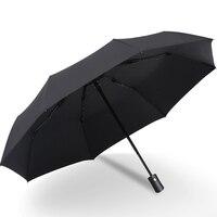 Sombrilla automática con revestimiento negro para lluvia y sol  Anti UV 3  plegable  resistente al viento  a prueba de viento  Parasol para hombre y mujer  8 varillas Paraguas     -