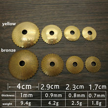1PC Vintage Mini Brass Washer Flower Pull Cabinet Dresser Drawer Washer Knobs Handles,Chinese Furniture Hardware(China)
