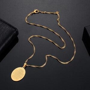 Image 4 - Islam muzułmanin starożytny koran naszyjniki złoty kolor arabski znak łańcuch bliskowschodni monety przedmioty, Money Maker prezent Drop Shipping