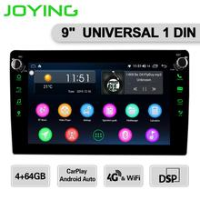 Android 8.1 head unit 4GB 64GB 9 inch IPS screen support wireless Carplay/Android auto univeral car radio HD 1280*720 RDS/FM/AM
