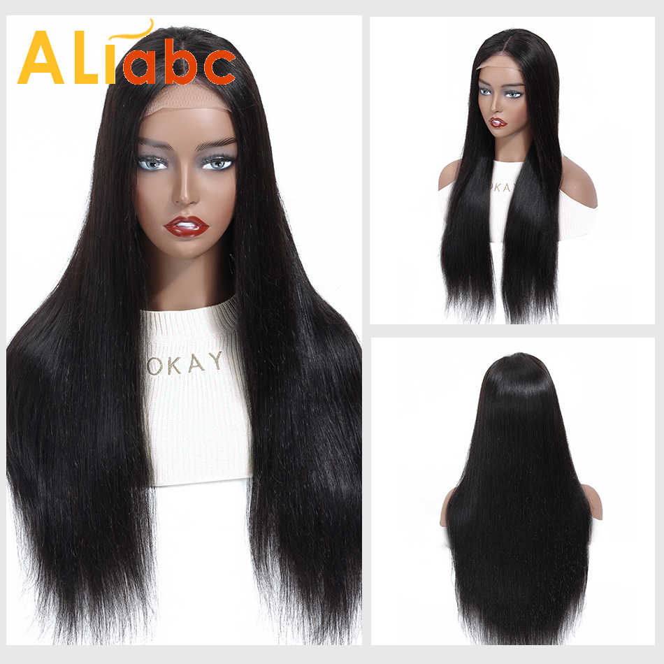 Aliabc, 4*4, парики на шнуровке, бразильские прямые 100% человеческие волосы для черных женщин, волосы remy, парики на шнуровке, плотность 150%